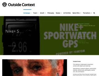 outsidecontext.com screenshot