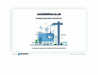 outsideline.co.uk screenshot