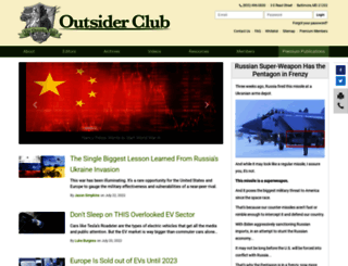 outsiderclub.com screenshot