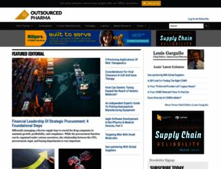 outsourcedpharma.com screenshot
