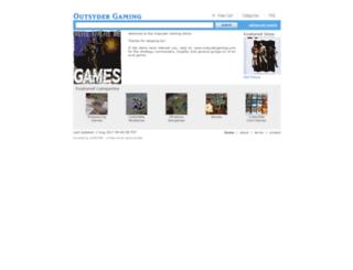 outsydergaming.ecrater.com screenshot