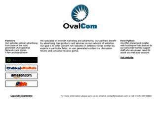 ovalcom.com screenshot