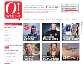 ovations.com screenshot