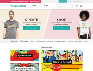 overheardshop.spreadshirt.com screenshot