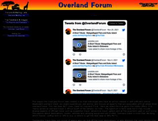 overland.co.za screenshot