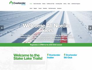 overlanderskiclub.com screenshot