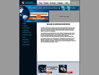 overphoneinterpreters.com screenshot