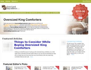 oversizedkingcomforters.com screenshot