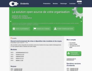 ovidentia.org screenshot
