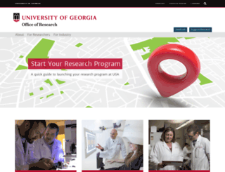 ovpr.uga.edu screenshot