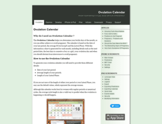 ovucalendar.com screenshot