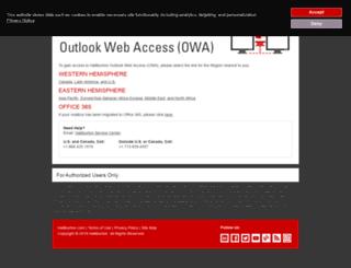 owa.halliburton.com screenshot