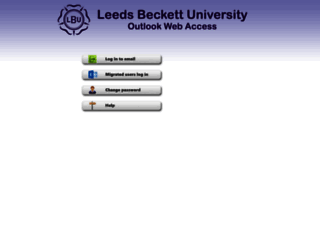 owa.leedsbeckett.ac.uk screenshot