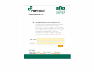 owa.pennmutual.com screenshot
