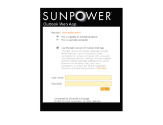 owa.sunpowercorp.com screenshot
