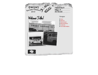 owenssalvage.com screenshot