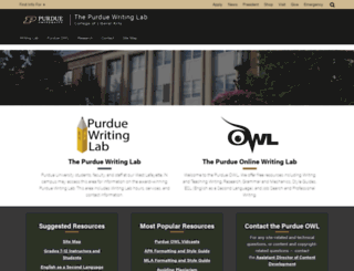 owl.english.purdue.edu screenshot