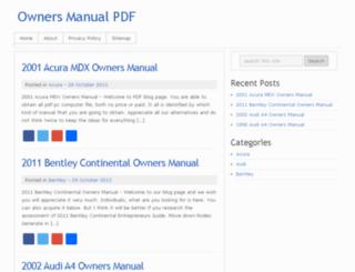 owners-manual.hol.es screenshot