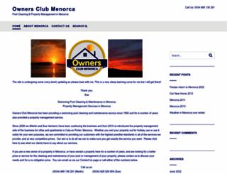 ownersclubmenorca.com screenshot