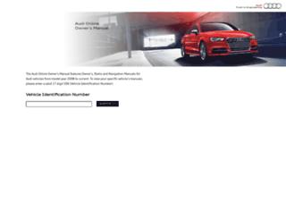 ownersmanual.audiusa.com screenshot