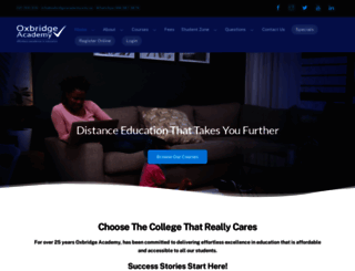 oxbridgeacademy.edu.za screenshot