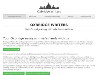 oxbridgewriters.com screenshot