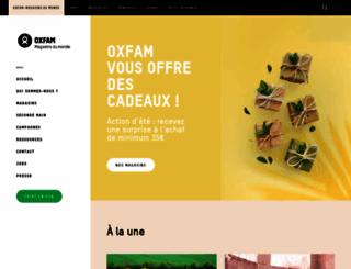 oxfammagasinsdumonde.be screenshot