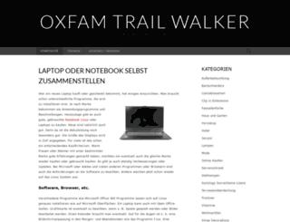 oxfamtrailwalker.de screenshot