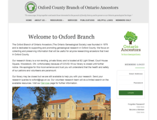 oxford.ogs.on.ca screenshot