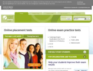 oxfordenglishtesting.com screenshot