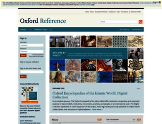 oxfordreference.com screenshot