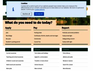 oxfordshire.gov.uk screenshot