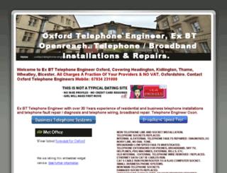 oxfordtelephoneengineer.co.uk screenshot
