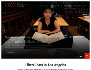 oxy.edu screenshot