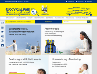 oxycare.eu screenshot