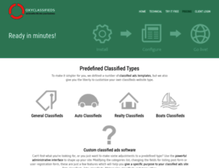 oxyclassifieds.com screenshot