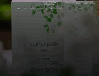 oxygenskincare.co.nz screenshot