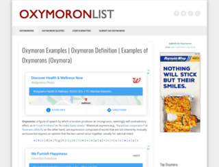 oxymoronlist.com screenshot
