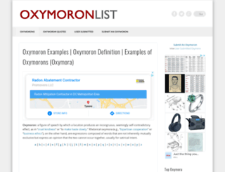 oxymoronlist.net screenshot