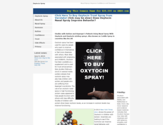 oxytocinspray.com screenshot