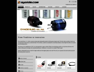 oyaide.com screenshot