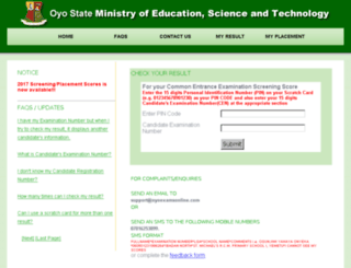 oyoexamsonline.com screenshot