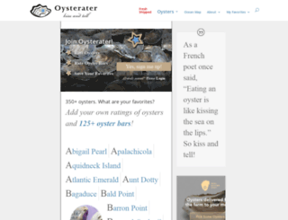 oysterater.com screenshot