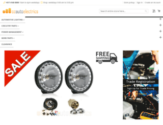 ozautoelectrics.com screenshot