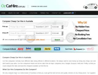 ozcarhire.com.au screenshot