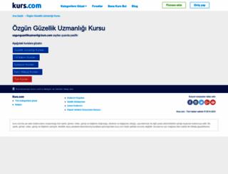 ozgunguzellikuzmanligi.kurs.com screenshot