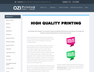 oziprinting.com.au screenshot