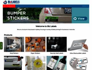 ozlabels.biz screenshot