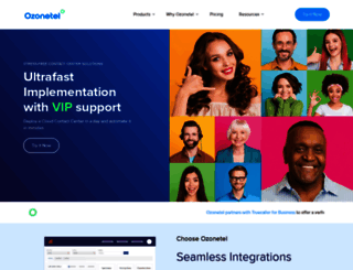 ozonetel.com screenshot