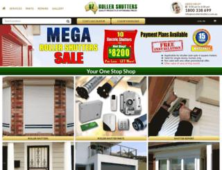 ozrollershutters.com.au screenshot